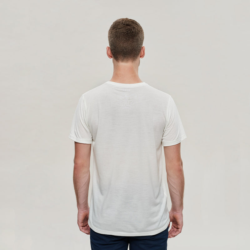 The Merino Wool T-Shirt Natural White Woolday 2