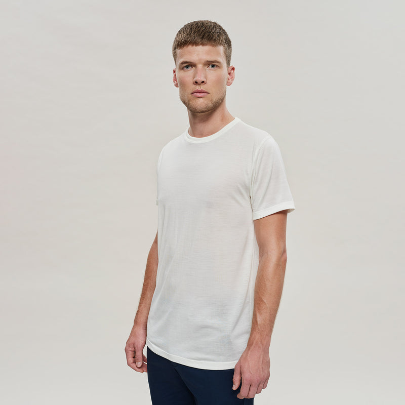 The Merino Wool T-Shirt Natural White Woolday 3