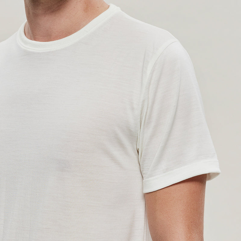 The Merino Wool T-Shirt Natural White Woolday 4