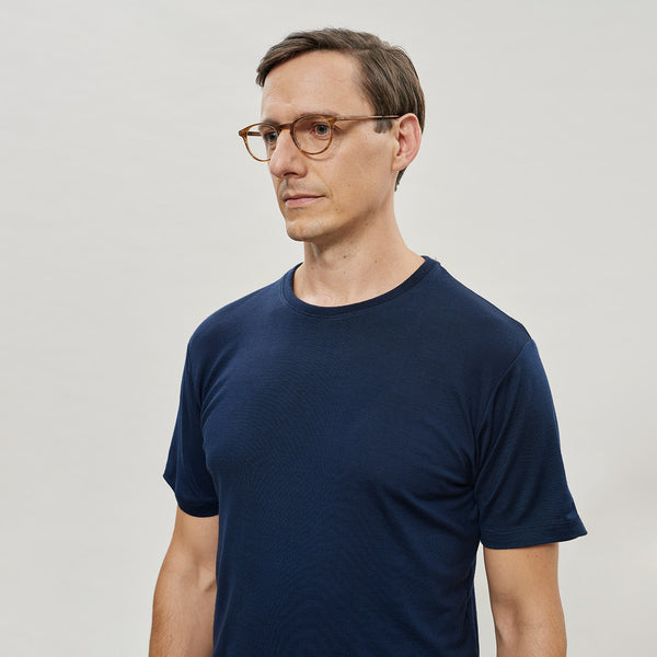 The Merino Wool T-Shirt for Men Navy Blue Woolday 1