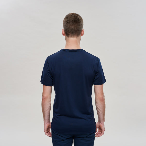 The Merino Wool T-Shirt Mountain Navy Blue Woolday 2