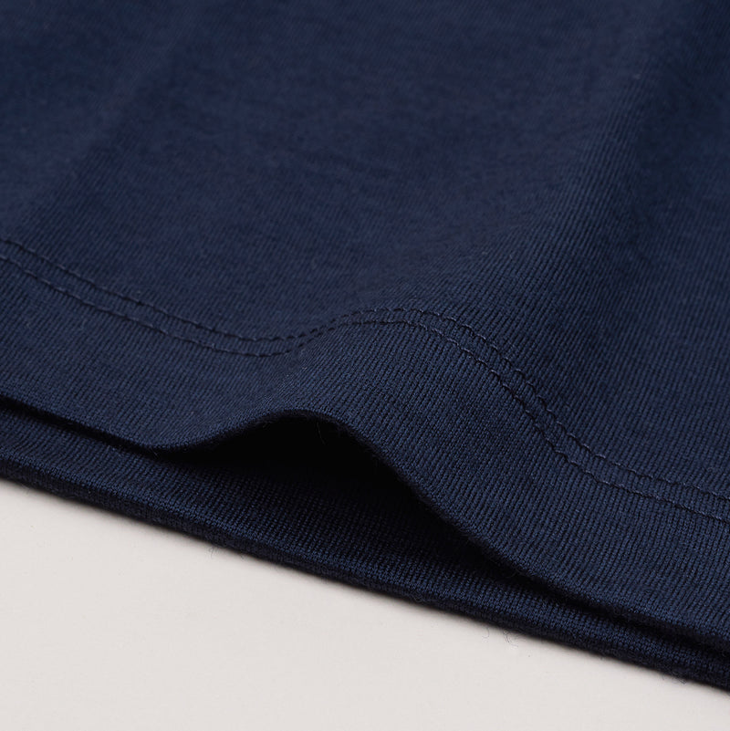 The Merino Wool T-Shirt Mountain Navy Blue Woolday 4