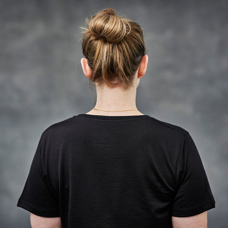 The Merino Wool T-Shirt for Women Black Woolday 3