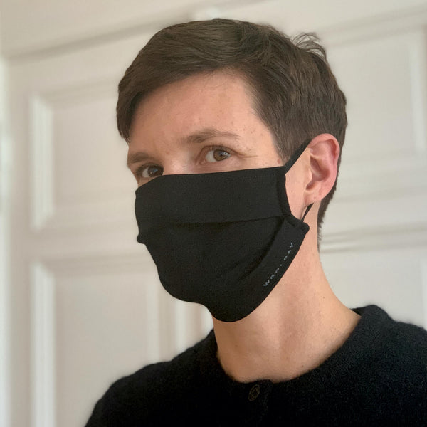 The Merino Wool Face Mask Black Woolday 2