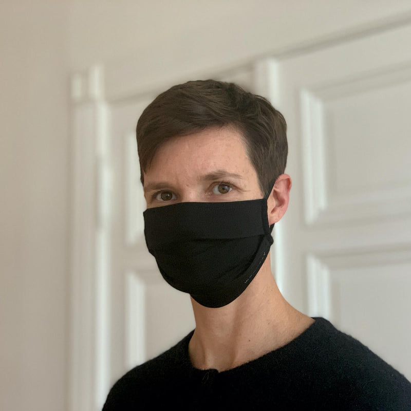 The Merino Wool Face Mask Black Woolday 3