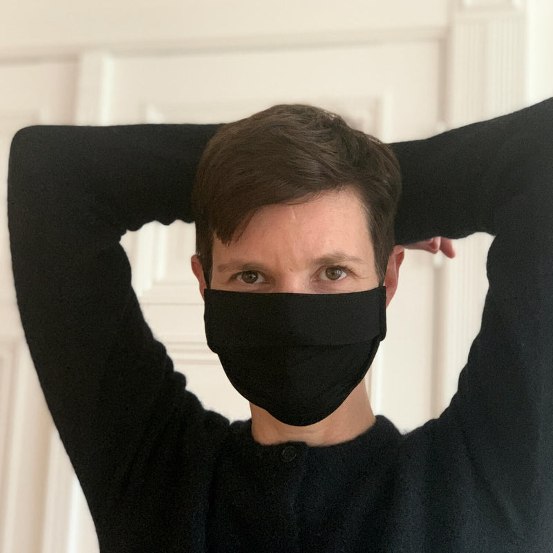 The Merino Wool Face Mask Black Woolday 4