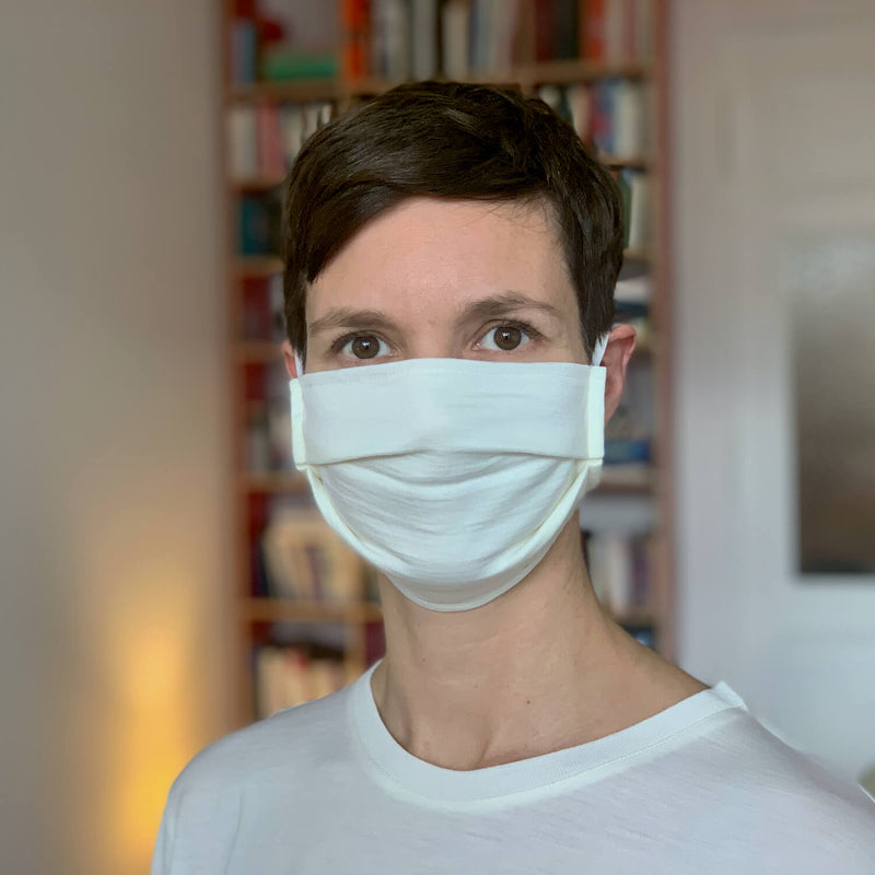 The Merino Wool Face Mask Off White Woolday 2