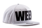 White and black 5 panel Weed Snapback