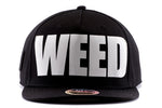 black kush friendly weed snapback
