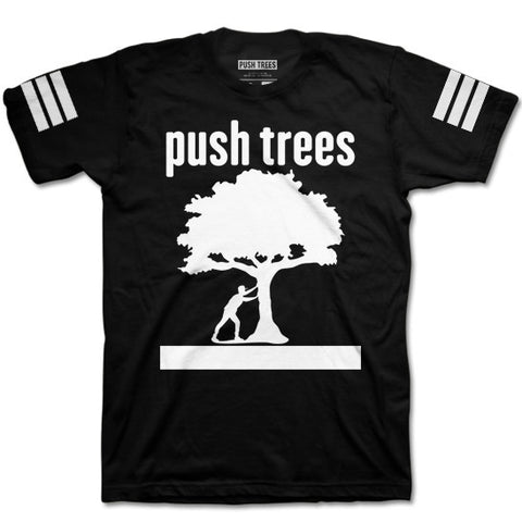 Push Trees | Triple Stripe Stamp T-Shirt