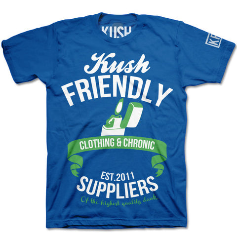 blue kush friendly chronic suppliers t-shirt