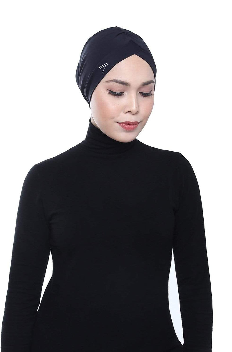 Aqua Sol Swim Turban in Black