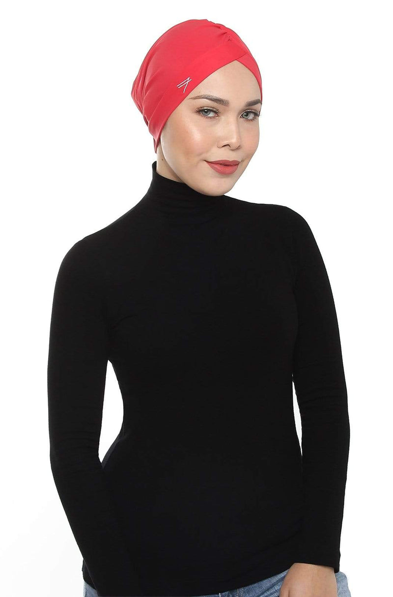 Aqua Sol Swim Turban in Chilli Red