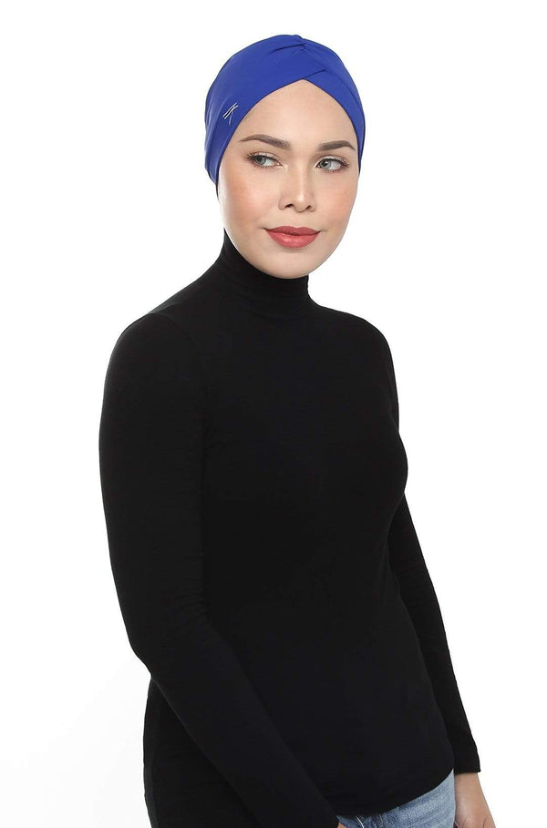 Aqua Sol Swim Turban in Electric Blue