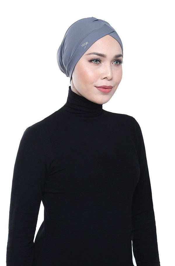 Aqua Sol Swim Turban in Grey