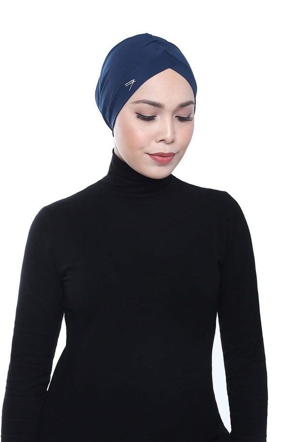 Aqua Sol Swim Turban in Navy