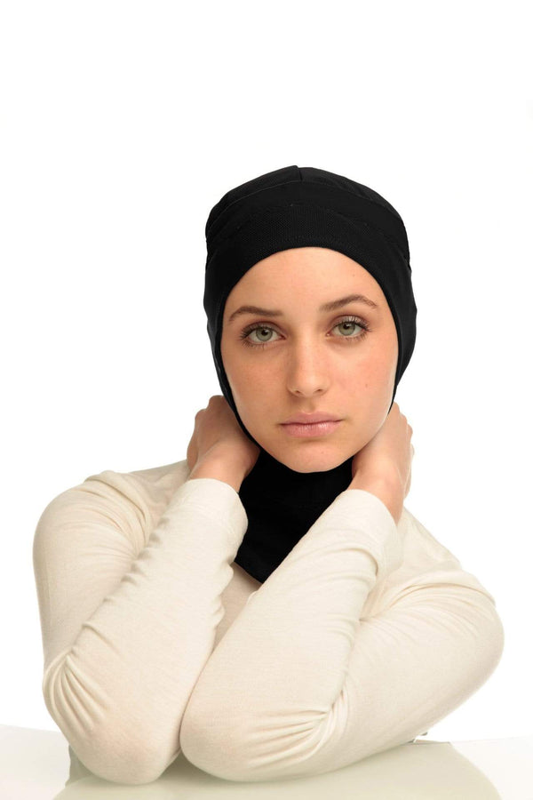 Sports Hijabs Capsters Runner in Black