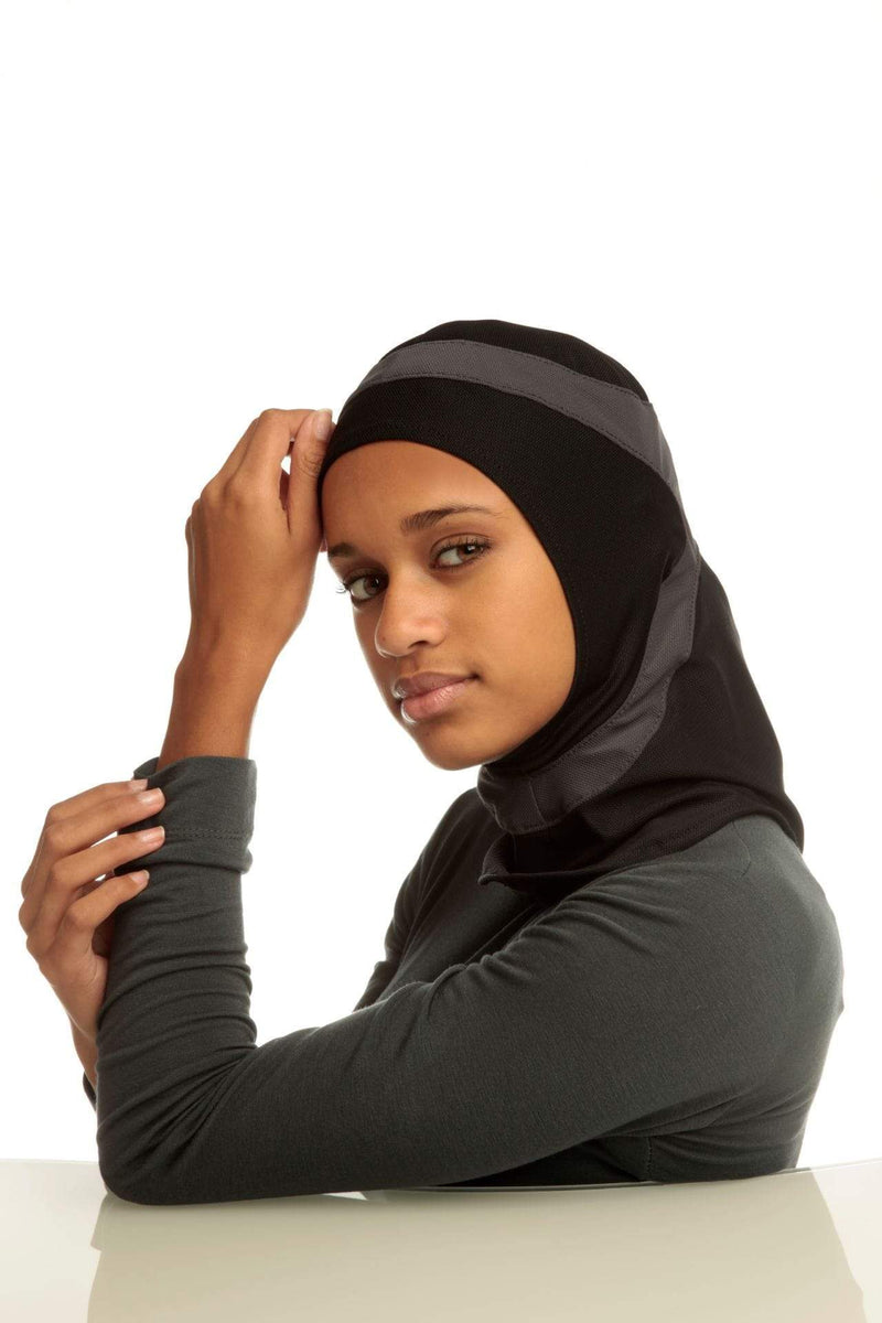 Sports Hijabs Capsters Runner in Black/Dark Grey
