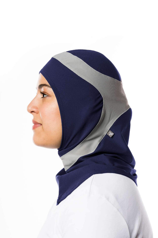 Sports Hijabs Capsters Runner in Navy Blue/Light Grey
