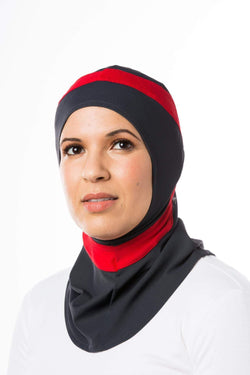 Sports Hijabs Capsters Runner in Red/Dark Grey