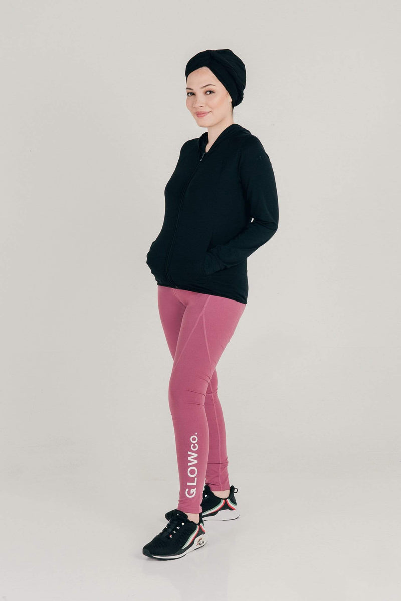 Bottoms GLOWco Exclusive GlowBasic Tights in Pink