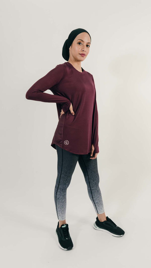 Sports Tops GLOWco Exclusive GlowBasic Top in Plum