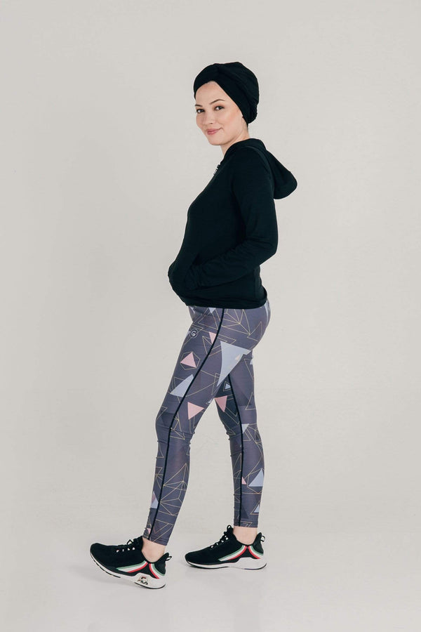GlowTrio Tights in Dark Grey