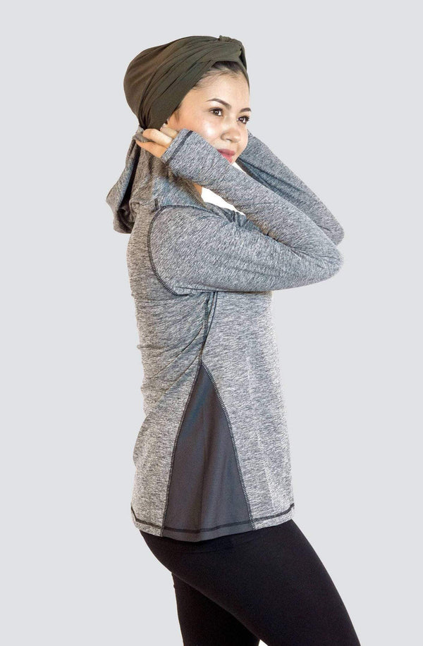 Sports Tops Nashata Ultra Hoodie in Grey