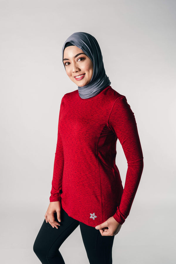 Ultra Top Melange in Red