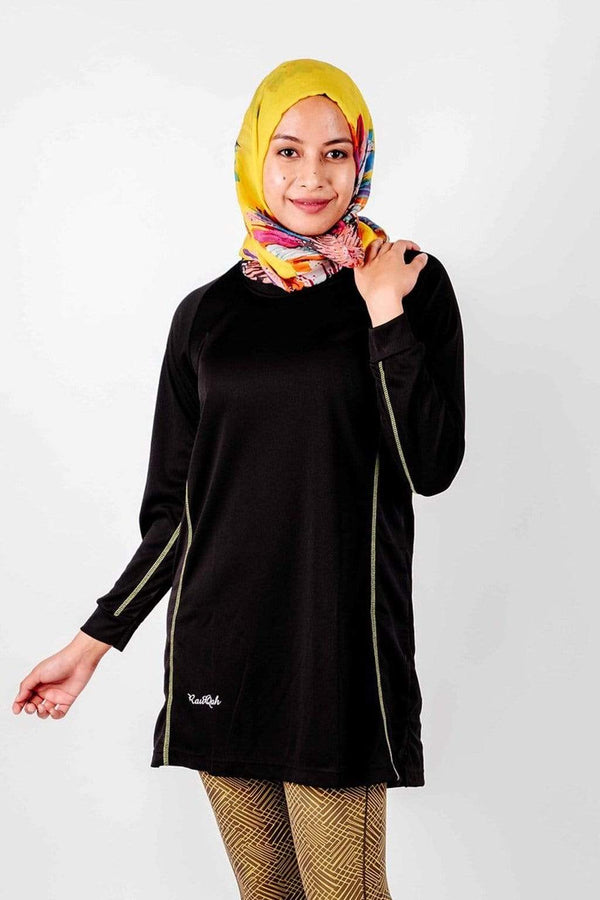 Sports Tops Rauqah Afeefa in Black