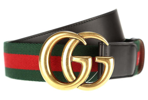 gucci double logo belt buckle red green
