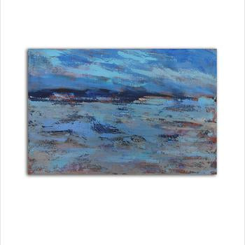Asst Nordic Abstract Art (Seascape) - Unframed Canvas Print (BXY224b)