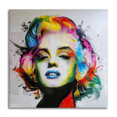 Marilyn Monroe Portrait - Unframed Canvas Print (BXY291)