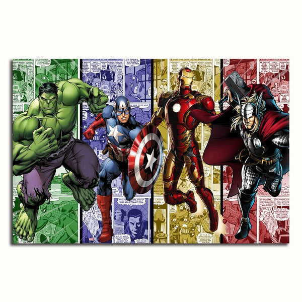 Avengers Assemble! - Rolled Canvas Print Only (BXY301)