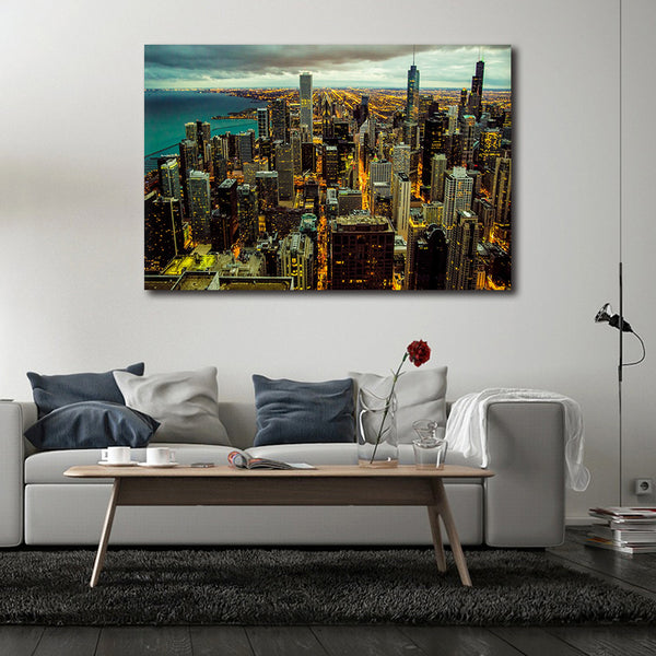 Chicago Cityscape - Unframed Canvas Print (BXY295)