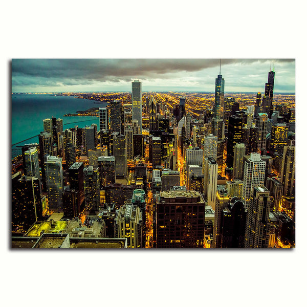 Chicago Cityscape - Rolled Canvas Print Only (BXY295)