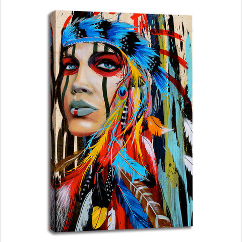 Tribal Headdress - Unframed Canvas Print (BXY308)