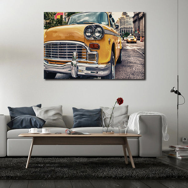 Asst Vintage Car - Unframed Canvas Print - (BXY222)