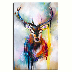Beautiful Abstract Deer - Rolled Canvas Print Only (BXY251)
