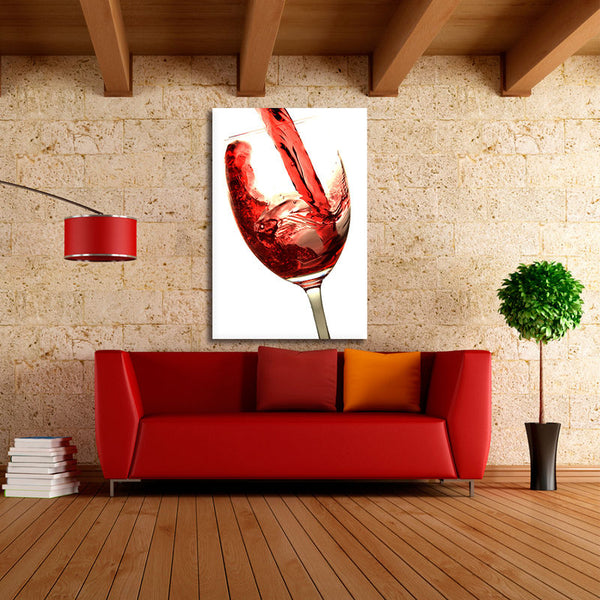 Wine Glass - Rolled Canvas Print Only (BXY290)