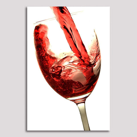 Wine Glass - Unframed Canvas Print (BXY290)