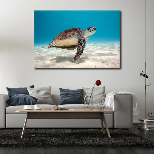 Sea Turtle - Rolled Canvas Print Only (BXY307)