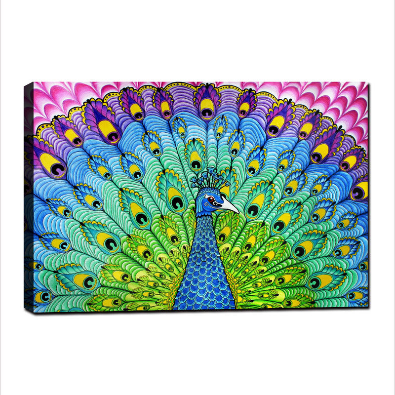 Peacock's Feathers - Unframed Canvas Print (BXY278)
