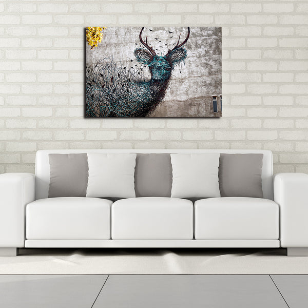 Stylized Deer - Rolled Canvas Print Only (BXY287)