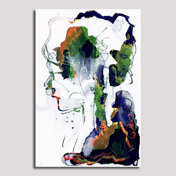 Abstract Face - Unframed Canvas Print (BXY288)