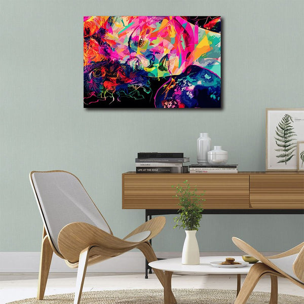 Abstract Face - Unframed Canvas Print (BXY284)
