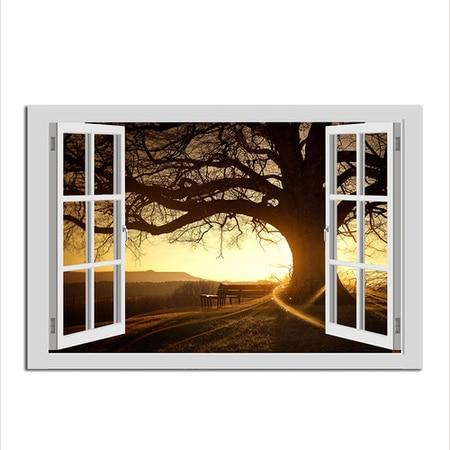Asst Window to Paradise - Unframed Canvas Print (BXY238e)