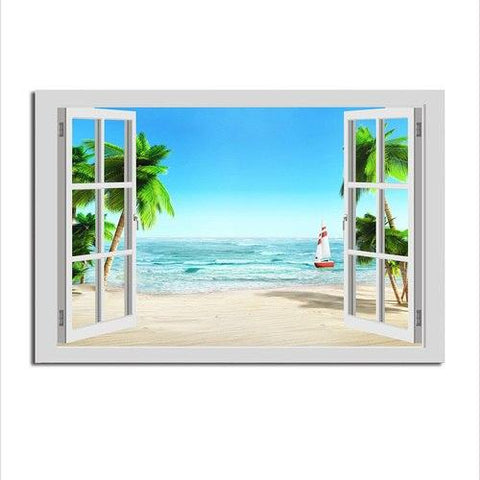Asst Window to Paradise - Unframed Canvas Print (BXY238d)