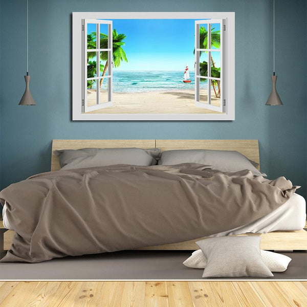 Asst Window to Paradise - Unframed Canvas Print (BXY238b)