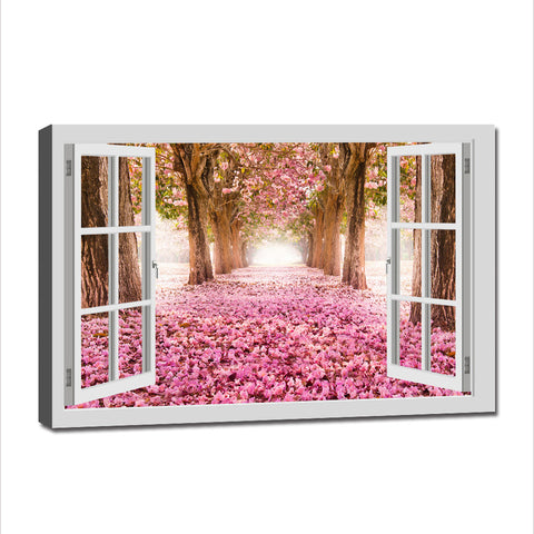 Asst Window to Paradise - Unframed Canvas Print (BXY238)